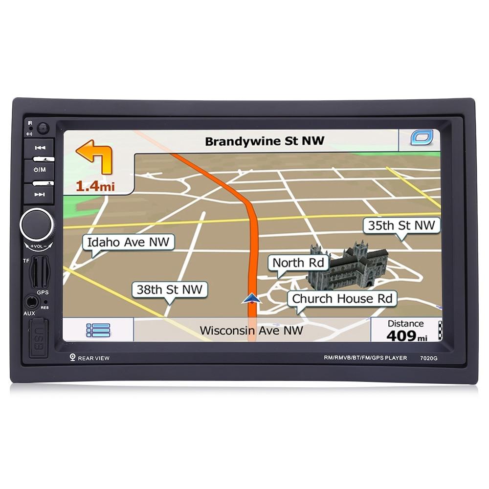 7020G 7 pulgadas 1080 P 2 Din Car Audio Radio Reproductor MP5 Llamada Bluetooth GPS de Navegación volante Control Remoto FM TF USB AUX