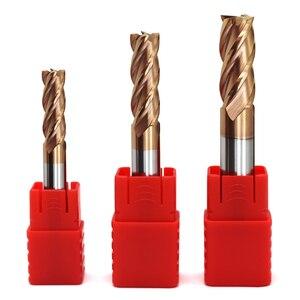 Image 2 - 5 peças hrc60 4 flauta 1mm 1.5mm 2mm 2.5mm 3mm 4mm 5mm 6 ponta cortadora para moagem, fresa de liga de carboneto, tungstênio, aço, fresagem