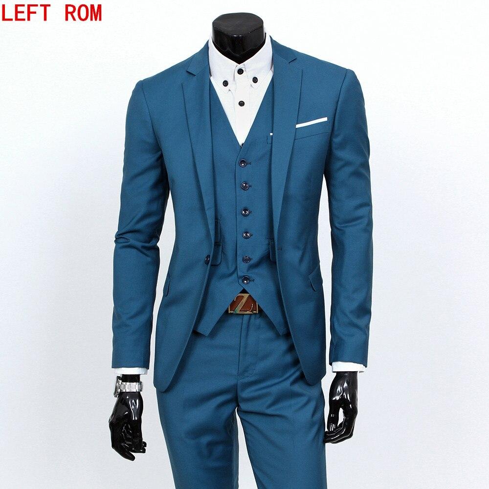 2018 Handsome Wedding Groom Tuxedos (Jacket+Pants) Men Suits Custom ...