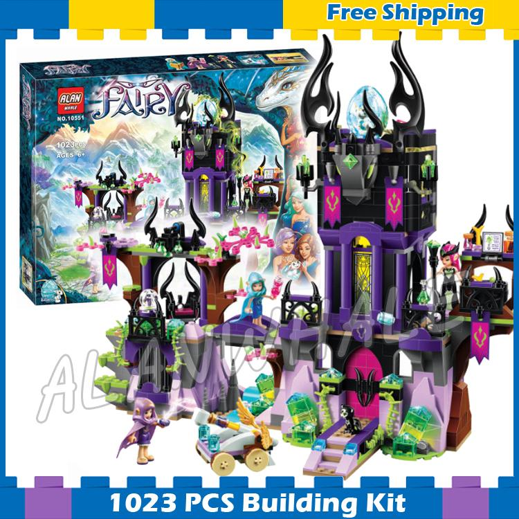 1023pcs Elf Ragana's Magic Shadow Castle 10551 Model Building Blocks Children Fairy Sets Bricks Hobby Compatible with Lego Elves kazi 608pcs pirates armada flagship building blocks brinquedos caribbean warship sets the black pearl compatible with bricks