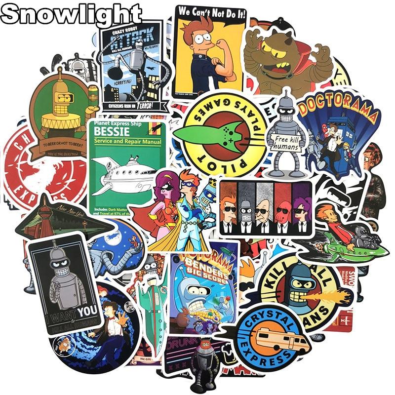 74Pcs/lot Futurama Cartoon Sticker Anime Graffiti Sticker For Laptop Motorcycle Skateboard Luggage Decal Toy Fun Sticker