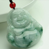 yu xin yuan fine jewelry natural handmade carved Laughing Buddha necklace pendant Lovers' Pendants Amulet Jewelry
