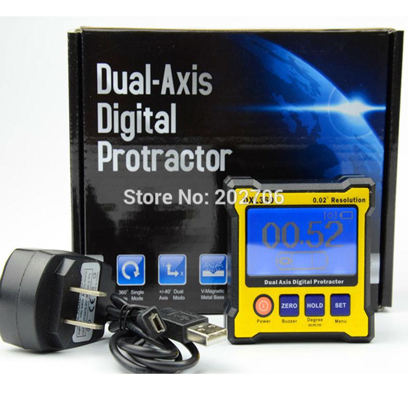 Цифровой транспортир Инклинометр DXL360 двухосевой уровень измерительная коробка угловая линейка измеритель высоты