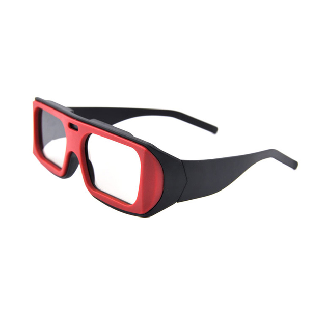 (3 pieces/lot) Most Popular Cinema Red Passive Polarized Circular Cinema 3D Glasses for RealD 3D Cinema Systems