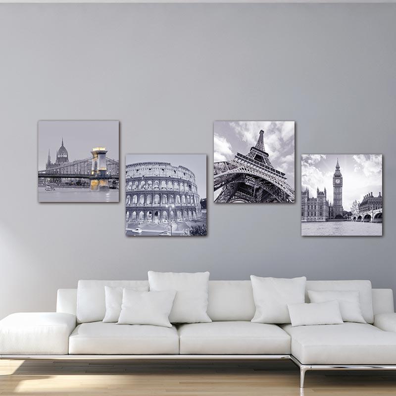 BANMU Wall Art Суреттер Кескіндеме 4 бөлік - Үйдің декоры - фото 3