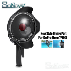 SHOOT 60M Waterproof Dome Port Filter Switchable Dome Dive Case Cover w/ Trigger for GoPro HERO 5 6 7 Black Go Pro Accessories