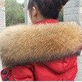 Warm Fur Bufanda Mujeres 100% Natural de piel de Mapache Real Cuello de piel de Mapache Cuello de Piel Cálido Invierno Bufanda Del Calentador Del Cuello L #56