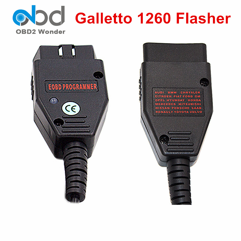 Prix pour Meilleur Prix Galletto 1260 OBD ECU Flash Outil EOBD OBDII OBD2 Interface De Diagnostic Pour multi-marques Voitures Galletto ECU Flasher Scan