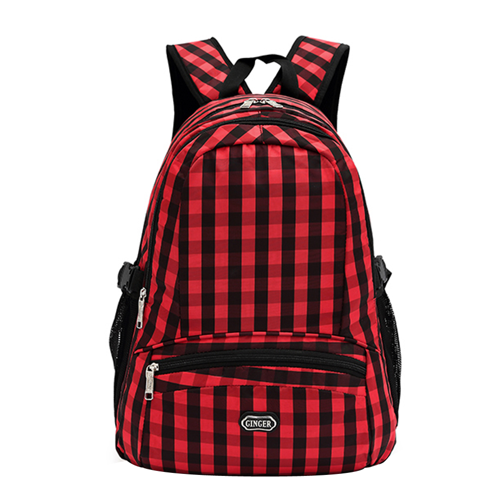 ФОТО  Lattice Patern Preppy Style Canvas Backpack Casual Rucksack Laptop Bags Arcuate Leisure Men's Backpack Zipper Solid Canvas Back