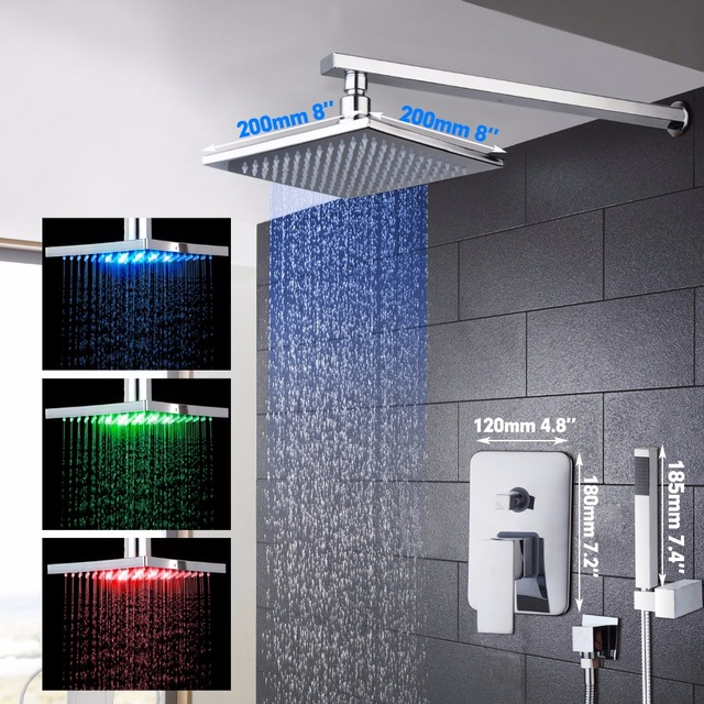 Good Quality Best Price LED Chrome Bath Shower Mixer Faucet Set ...