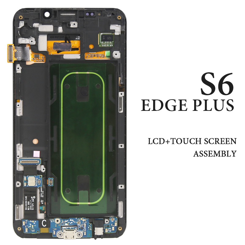 5.7 Inch G928 G928F G928A G928I AMOLED Display For S6 Edge Plus LCD Screen  With Frame Assembly Phone Replacement| | - AliExpress