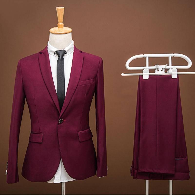 2017custom Made Red Suit Men Best Selling Groomsman Wedding Suits