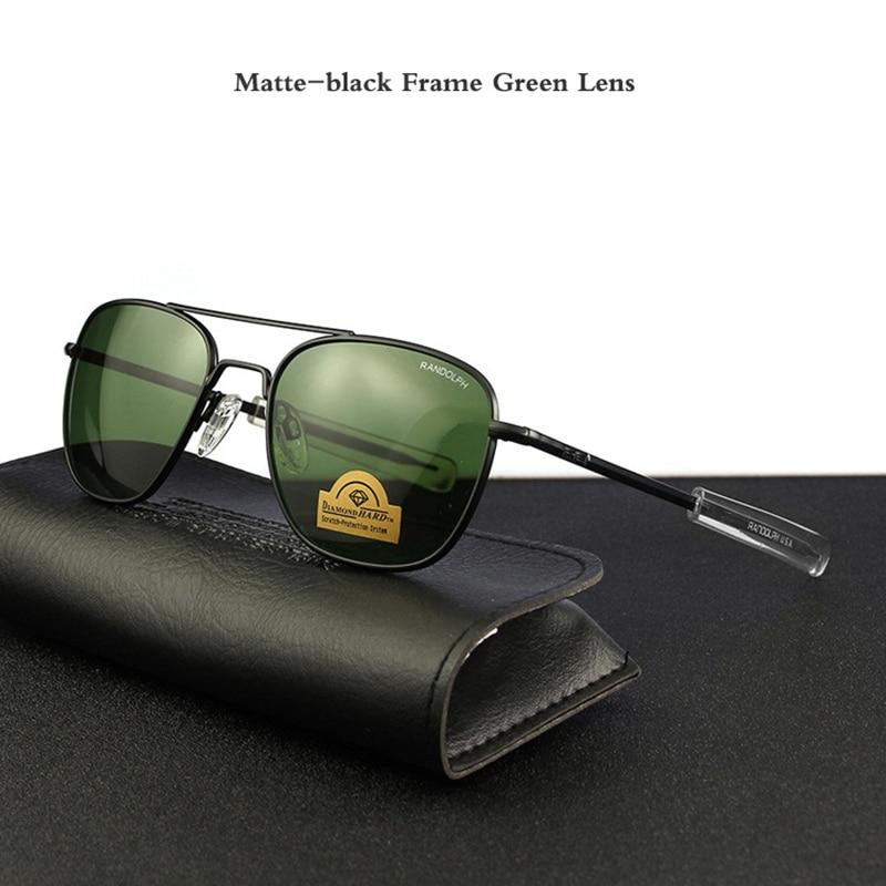 Matte-black Frame Green Lens