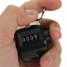 High Brand 4 Digits Hand held Manual Counting Clicker Counter Click Timer Golf Points Black