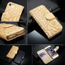 Retro Flower Leather Wallet Phone Case iPhone 5 SE 6 6S 7