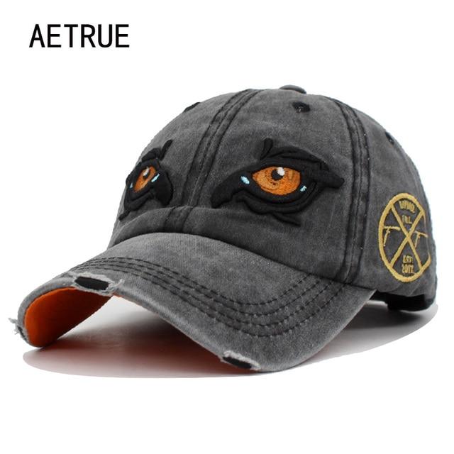 51b5c66fc0a AETRUE Baseball Cap Men Women Hats Caps For Men Snapback Cotton Embroidery  Eye Casquette Brand Bone Gorras Retro Washed Hat Cap