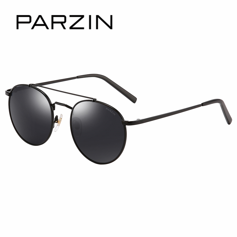 PARZIN Brand Retro Round Children Sunglasses High Quality Real Polarized Lens Glasses For 8-14 Years Old Top Grade Glasses 8123 hdcrafter driving sunglasses polarized men high quality retro aolly coating mirror sun glasses male brand designer oculos 017