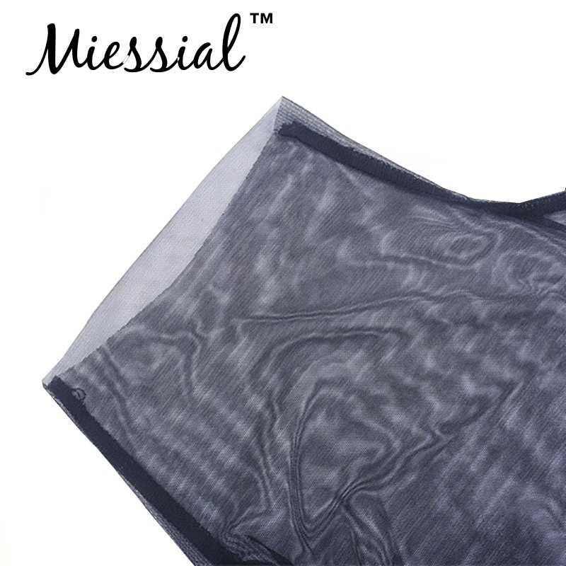 Miessial черный сексуальный один рукав женский костюм с сеткой Короткий Летний комбинезон вечерние клубный комбинезон женский комбинезон 2019