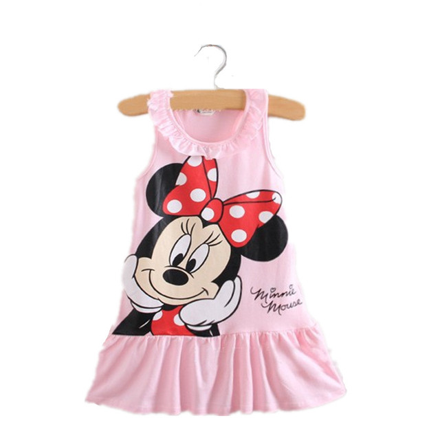 dd30057d3 Cute Cartoon Printed Baby Girl Dress 2018 Summer Fashion Toddler ...