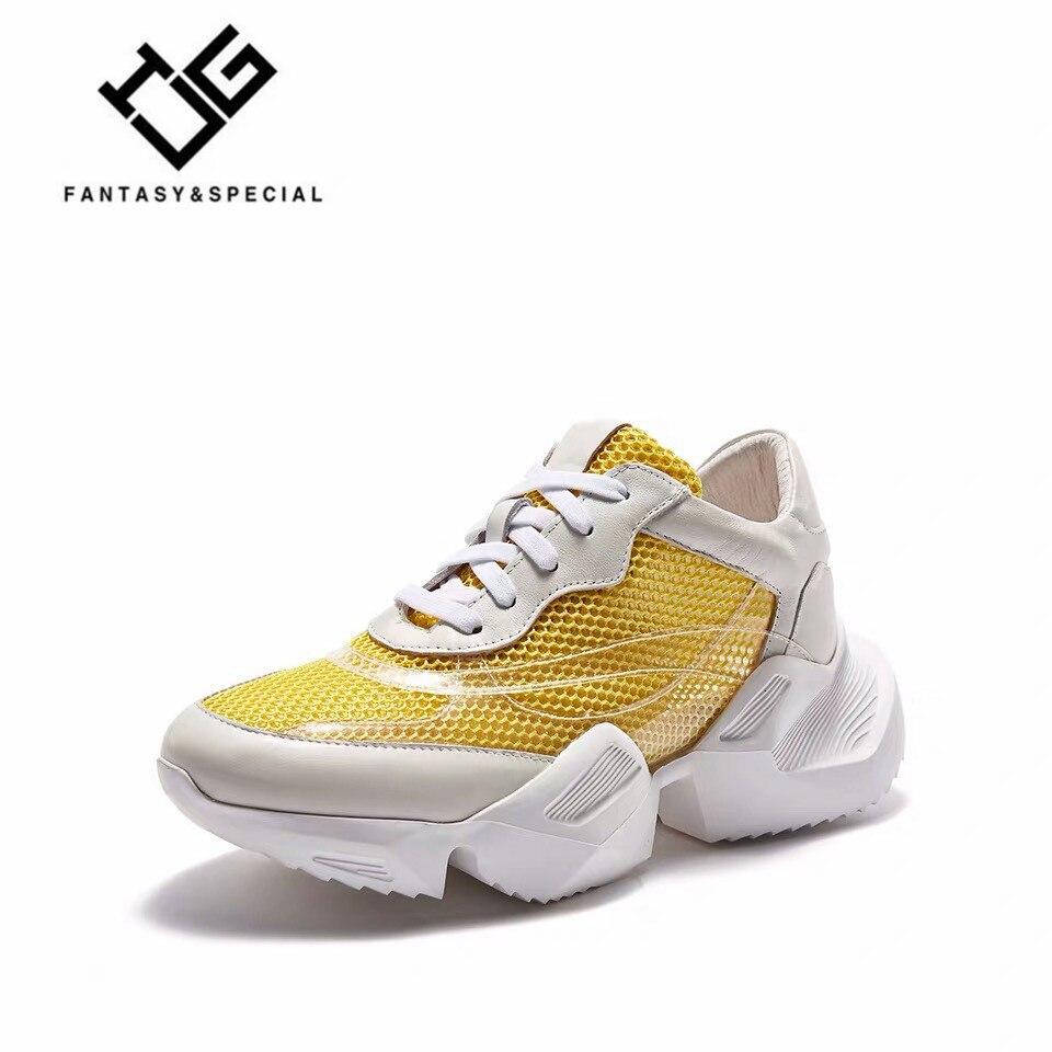IGU/Женская обувь на плоской подошве, Вулканизированная обувь, осенняя повседневная обувь из натуральной кожи, обувь для папы на платформе, к