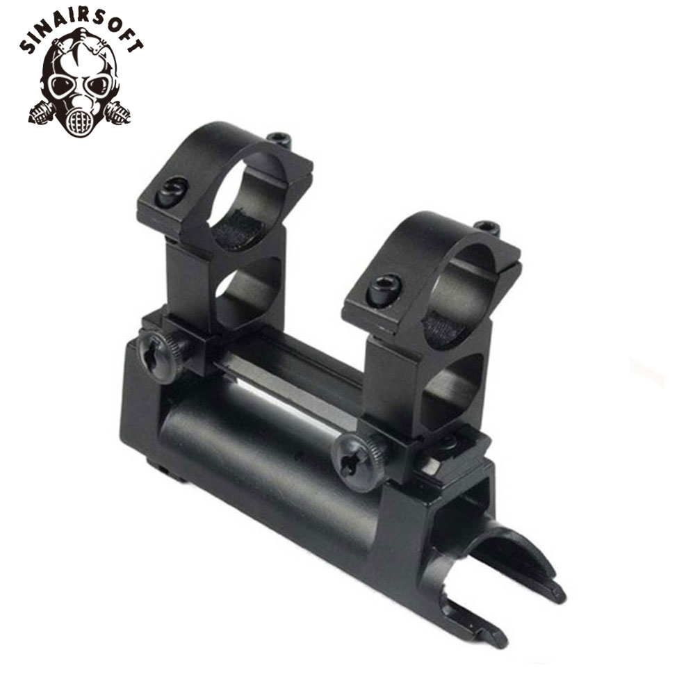 Barska Scope SKS Rifle Mount Base Waever 20mm Rail, Replaces Rear Receiver Cover With Gift Scope See-thru Rings