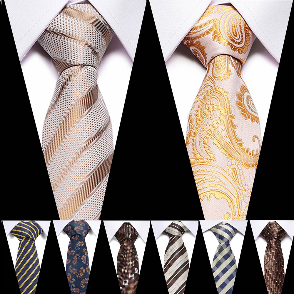 Formal Men's Tie Polyester 7CM Flamingo Gold Print Animal Neck Tie For Men Business Causal Fashion Party Wedding Accessories