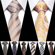 Formal Mens Tie Polyester 7CM Flamingo Gold Print Animal Neck For Men Business Causal Fashion Party Wedding Accessories