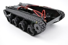цены DIY 55 Light Shock Absorption Plastic Tank Chassis with Rubber Crawler Belt Tracked Vehicle