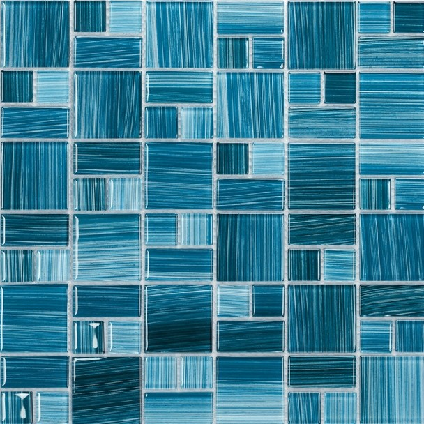 Sky Blue Gl Mosaic Tiles Kitchen Backsplash Bathroom