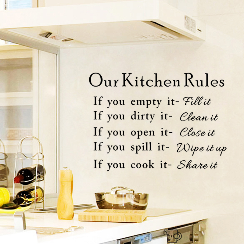Our Kitchen Rules Bar Restaurant DIY Art Wall Stickers