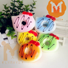 Squishy Donut Slow Rising Hello Kitty Donut Wholesale Kawaii Squishies Cell Phone Charm Straps Funny Toys For Children Kids Gift(China)