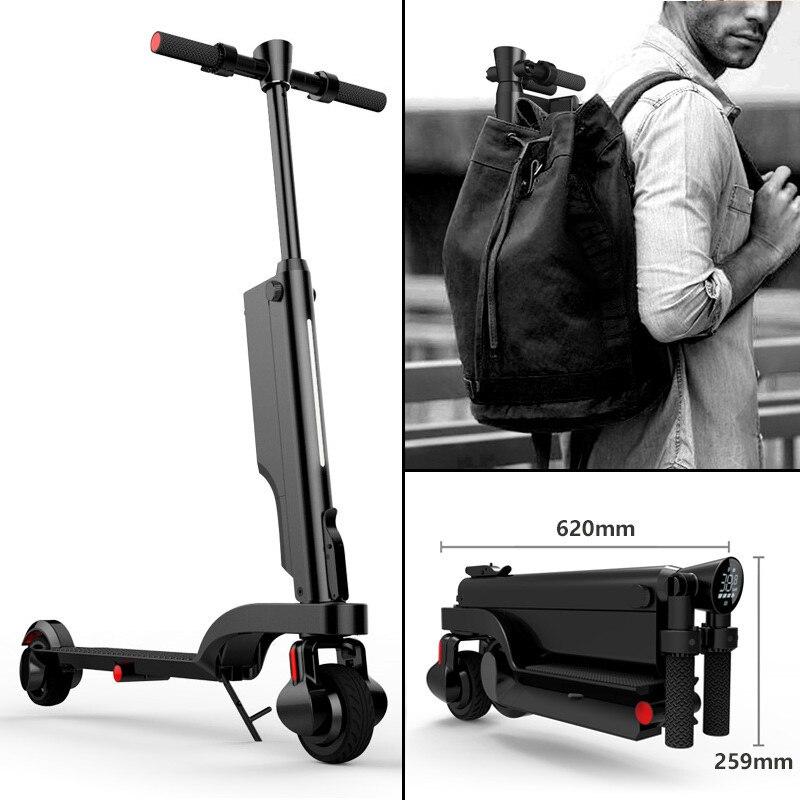 HX X6 мини электрический скейтборд два колеса с Bluetooth спикер двигатель 200 Вт 24 в портативный складной электрический велосипед для взрослых
