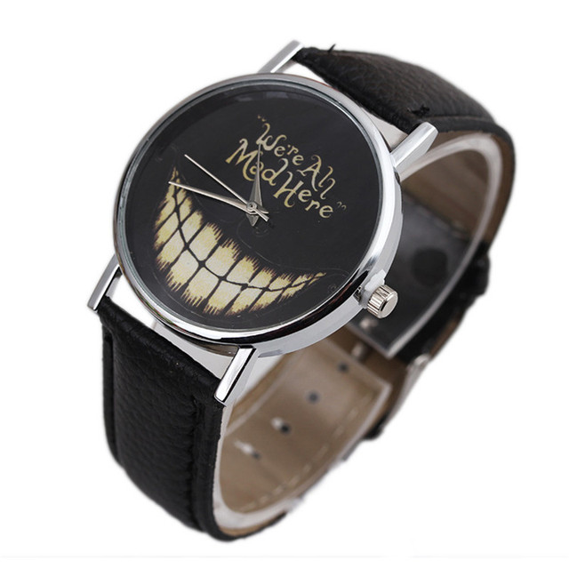 2017 Hot Fashion Women Watches for Men Clock Casual Ladies Sport Smiling Face Wr