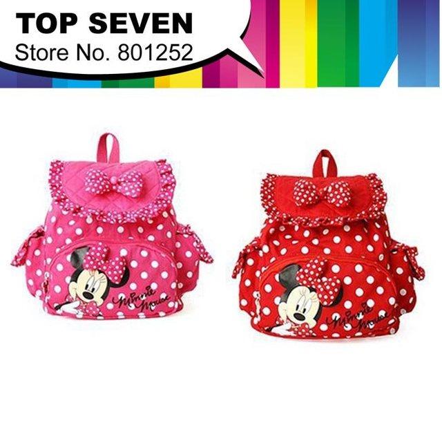 HOT SALE! Korean girls micky mouse  lovely girls  kids  baby Packbag children bags 1piece free shipping F4-010
