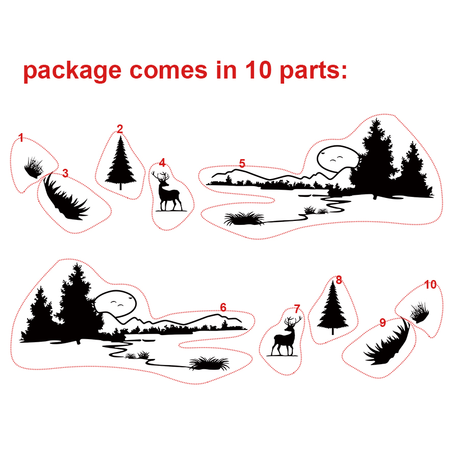 car stickers 10pc side body customChristmas styling graphic vinyl sticker protect modified decorative car accessories decals in Car Stickers from Automobiles Motorcycles