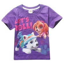 hot sale summer short sleeve blue color cotton children T shirt with three design printing