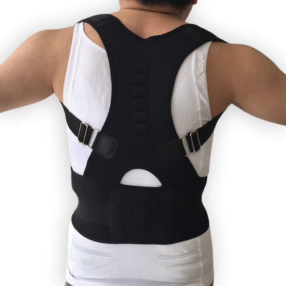 Top Adjustable Magnet Posture Corrector Back Corset Belt Straightener Brace Shoulder Corrector De Postura Braces Supports