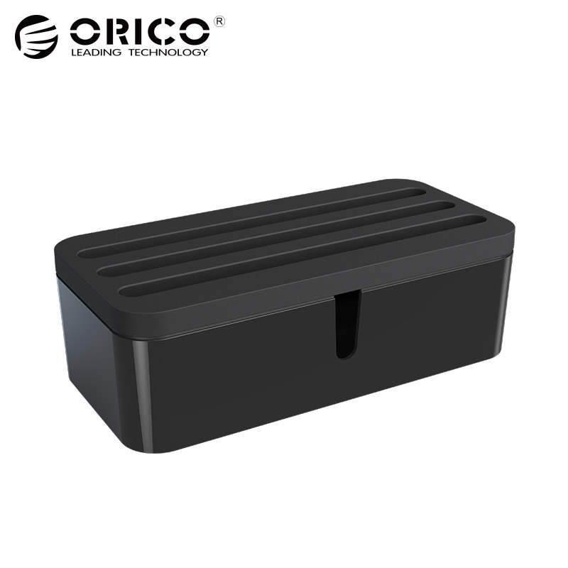 ORICO Phone Holders Cable Management Electrical Outlet Boxes USB Charger Protector Box for iphone 7 plus airpods huawei p20 pro