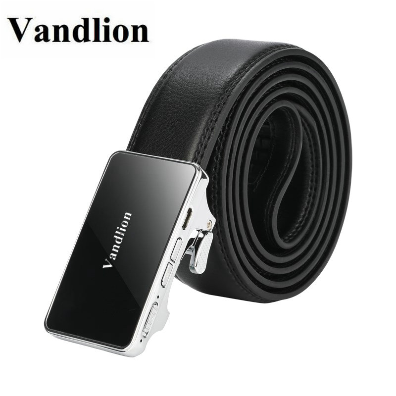 Vandlion Digital Voice Recorder PU Leather Men's Male Waist Belts Audio Recording Dictaphone Long Life Business Sound Recorders