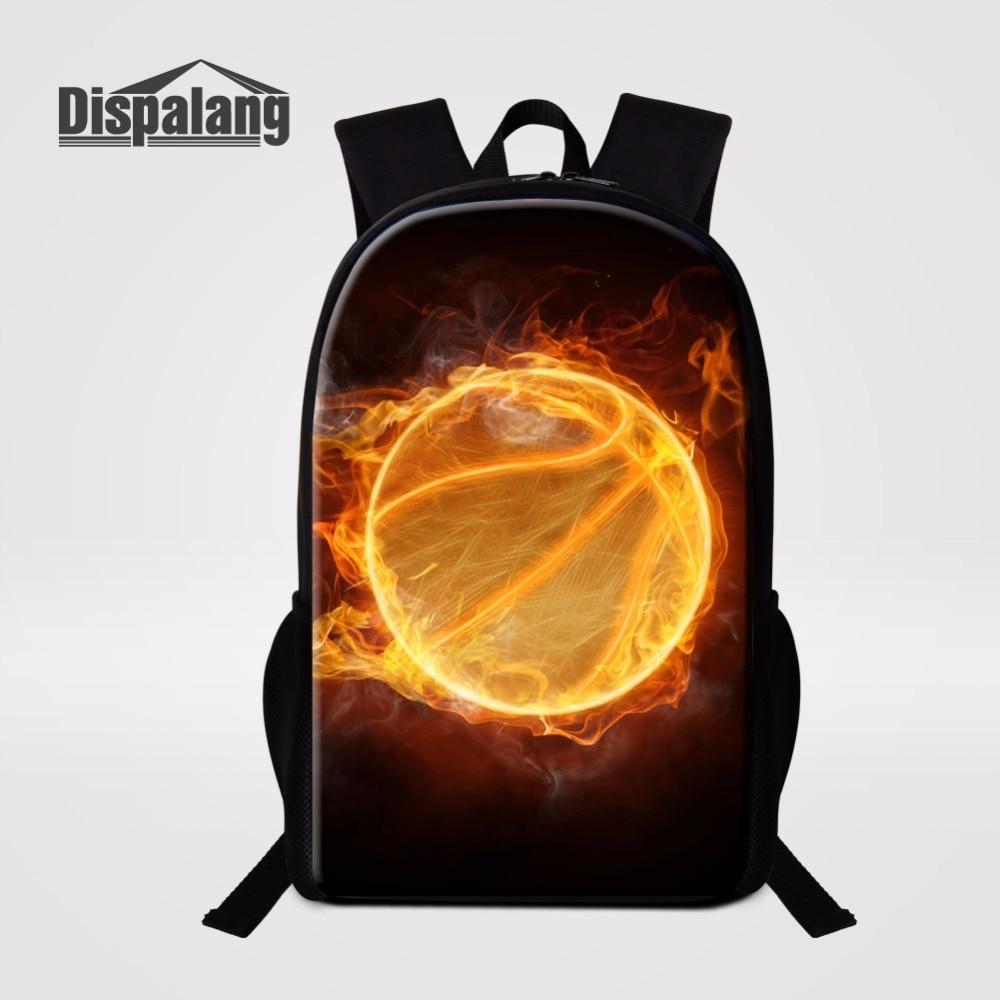 Cool Customize Basketballs Backpack For School Baseballs Print Schoolbag Bookbag For Boy ...