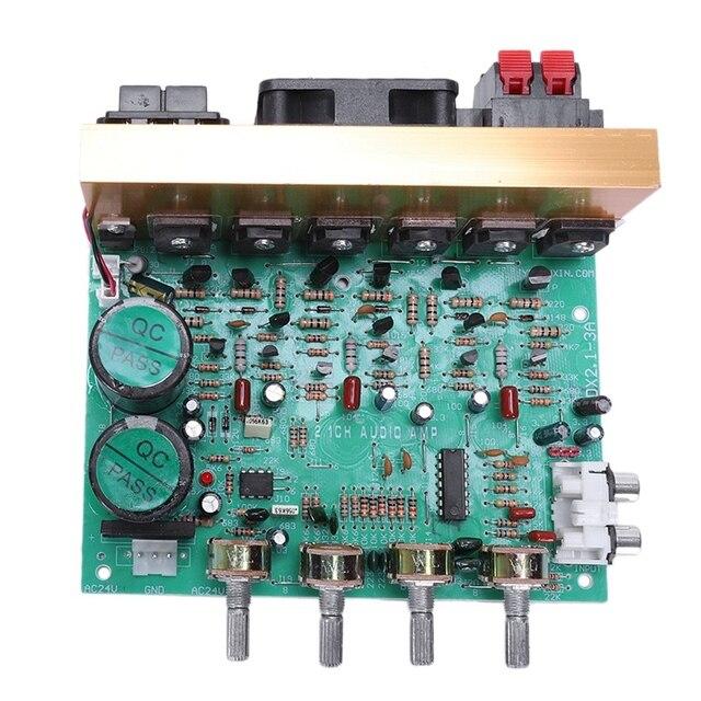 Аудио усилитель доска 2,1 канала 240 Вт высокой мощности Мощность сабвуфер усилитель доска Ампер Dual Ac18 24V дома Театр