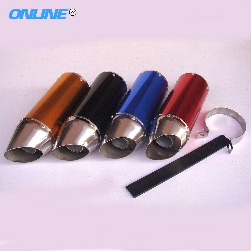 Pit Dirt Bike 28mm four colors Aluminum Exhaust Muffler Exhaust Pipe aluminum tube exhaust tube