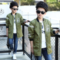 Child outerwear 2017 spring and autumn children clothing tennage kids boys wadded jacket medium-long spring trench coat 6-16Y