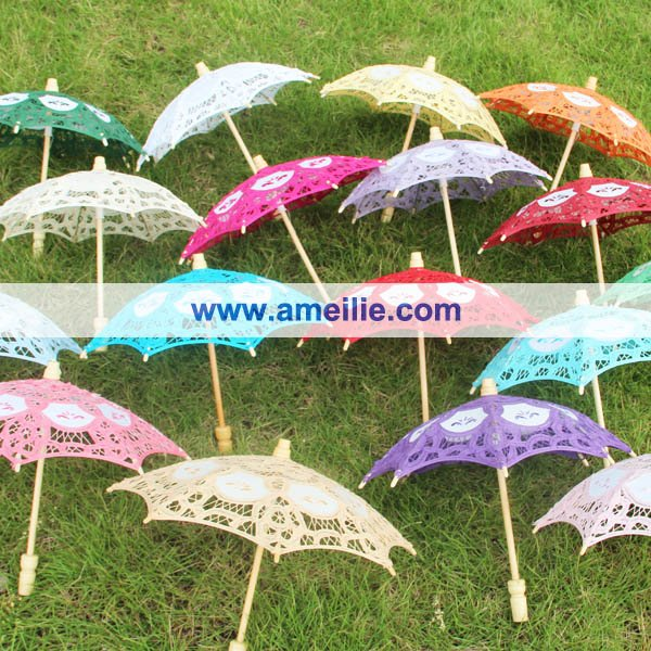 wedding party decoration small lace parasol baby shower decoration lace umbrelladhl free shipping
