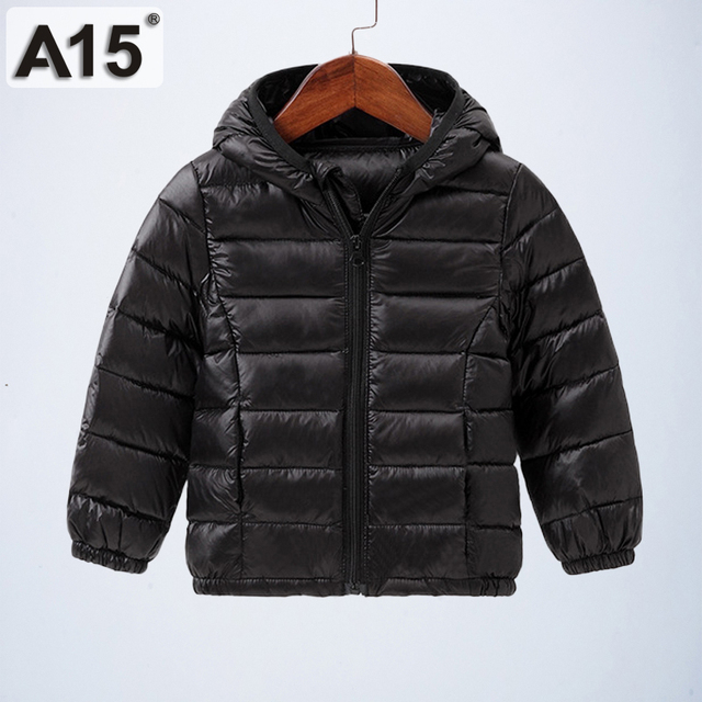3b24d3721819 A15 Children Winter Jackets for Boys White Duck Down Hooded Parka ...