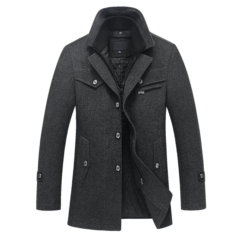 2018 caldo caldo autunno e in inverno di alta qualità del rivestimento degli uomini casuali degli uomini di cucitura di lana del cappotto libero di trasporto