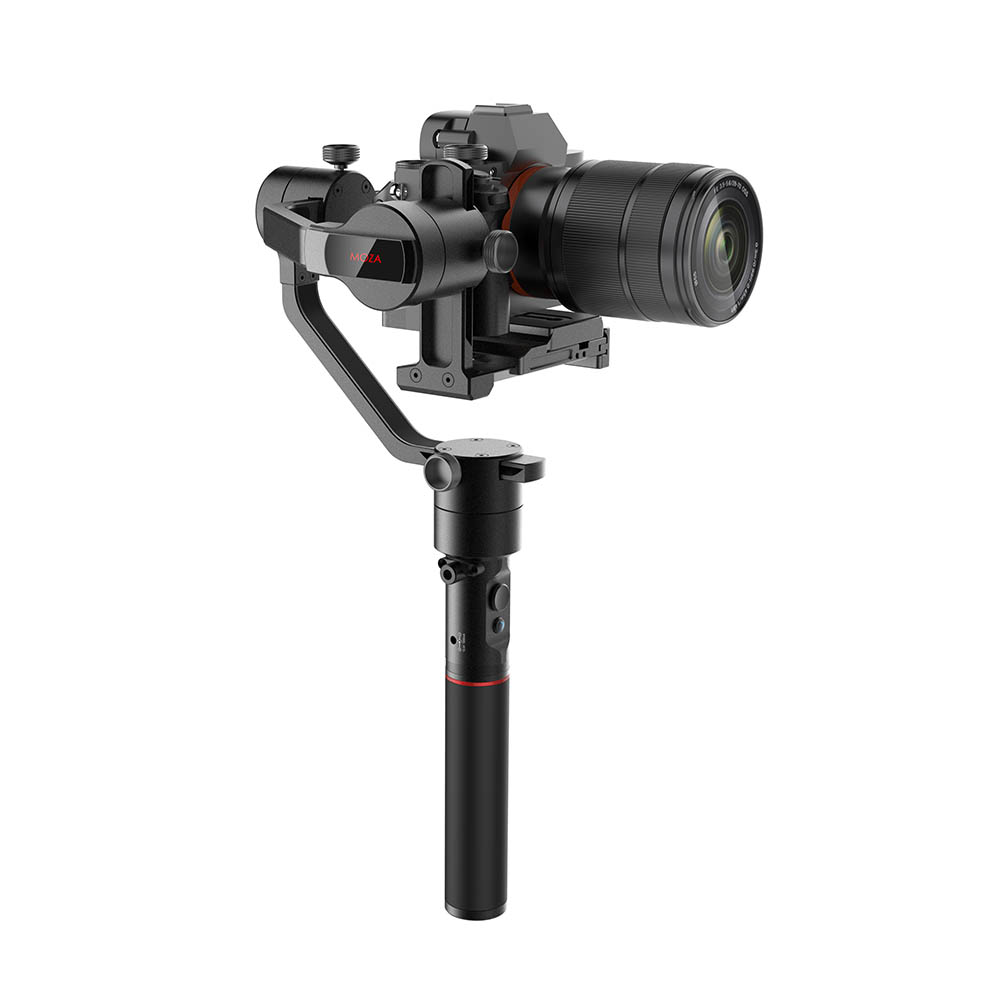 лучшая цена MOZA AirCross 3-Axis Handheld Gimbal Stabilizer for Sony A7 A7S A7R II A9 A99 A6500 Panasonic GH4 GH5 G85 G9 Mirrorless Camera