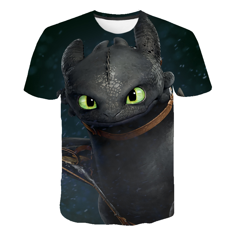 2019 How to Train Your Dragon 3d   T     shirts   Men Anime Toothless 3d Print   T     shirts   Cartoon Men   T     shirts   Cool Dream Work Teen