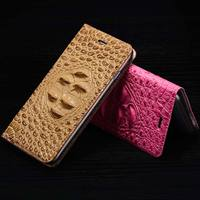 For Meizu Pro 6 / MX6 Pro 5.2'' Magnetic Case, 3D Crocodile Flip Luxury Real Genuine Leather Natural Skin Cover Phone Case
