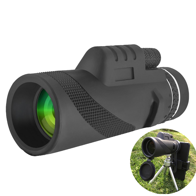 HD Portable 40x60 Monocular Telescope High Powered Waterproof Night Vision Hiking Hunting Travel Zoom Telescope for